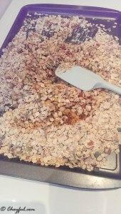 granola stirring