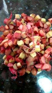 Rhubarb diced