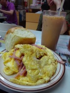 milk tea omelette